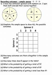 Sample Spaces When Spinning Two Spinners By Durhampotter