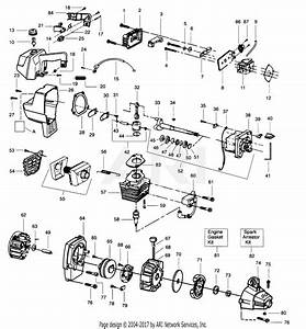 Poulan Gti19t Gas Trimmer Parts Diagram For Power Unit
