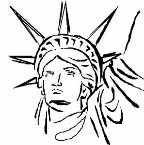 statue of liberty cartoon drawing clipartsco With statue of liberty drawing template