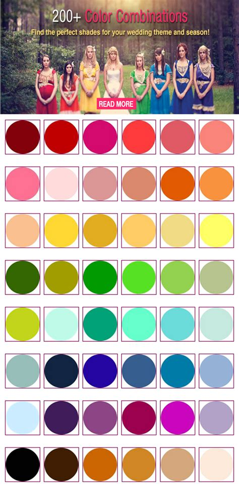 200 Color Combinations For Your Wedding Wedding