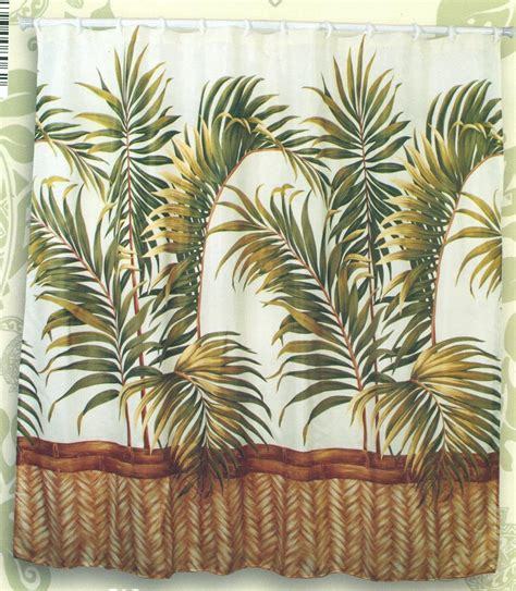 hawaiian tropical fabric shower curtain orchid 11street