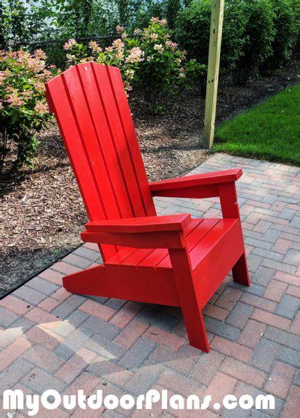 diy modern adirondack chair myoutdoorplans