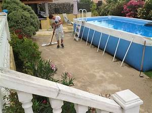 pose d39un gazon artificiel a memoire de forme a marignane With preparation piscine hors sol