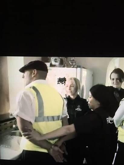 Officers Police Female Ah Shaddap Cuffed