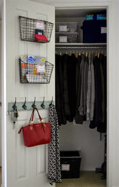 Front Entry Closet Organization Ideas by Made2make Home Tour Entryway Closet Organization