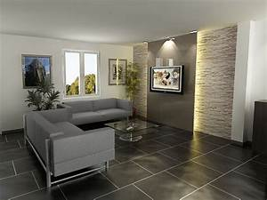 Decoration Mur Interieur Salon : d coration salon mur en pierre ~ Teatrodelosmanantiales.com Idées de Décoration