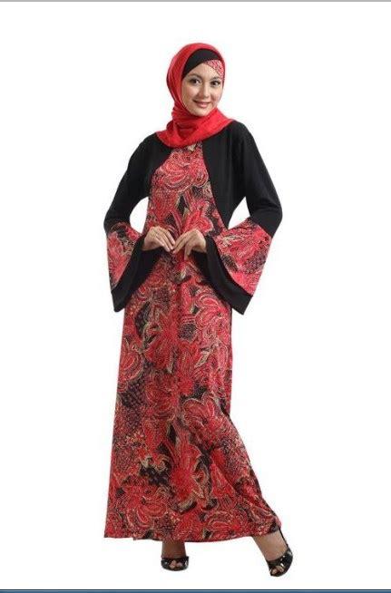 model gamis batik modern gambar terbaru  gambar busana muslim
