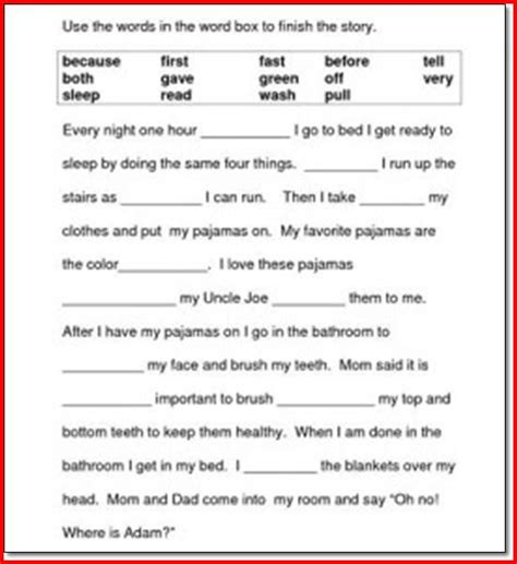 free printable reading comprehension worksheets first grade 1st grade reading comprehension worksheets free printable