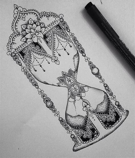 swirled hourglass prettiest mandala tattoos  pinterest
