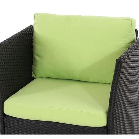 coussin pour salon de jardin en resine tressee coussins d assise et de dossier pr salon de jardin modulable siena polyrotin vert pomme
