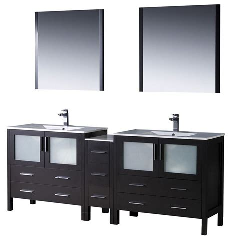 modern double sink vanity affordable variety fresca torino 84 quot espresso modern