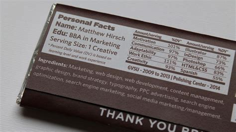 S Bar Resume by Hirschy S Chocolate Bar Resume Puts All Other Resumes To Shame