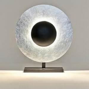 Tischleuchte Silber Modern : tischleuchte 3 flammig villino eisen silber braun schwarz ~ Indierocktalk.com Haus und Dekorationen