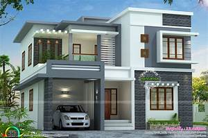 Contemporary Style Home Plans In Kerala Beautiful Flat ...