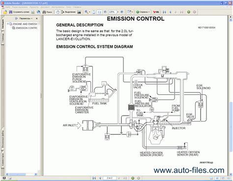 mitsubishi lancer 2005 repair manuals wiring