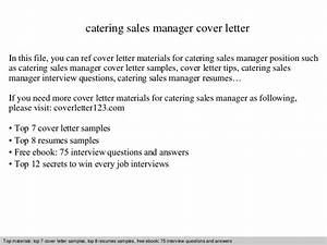 catering sales manager cover letter With catering marketing letter