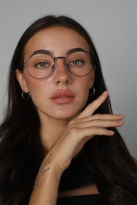 Metal round glasses frames with fake or prescription ...