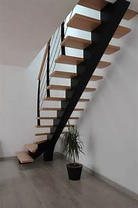 Escalier Metal Et Bois : escalier tournant un quart escalier m tallique et bois ~ Dailycaller-alerts.com Idées de Décoration