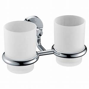 Caster Series 7 36 In  Double Toothbrush Holder In