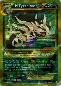 Mega shiny Tyranitar card