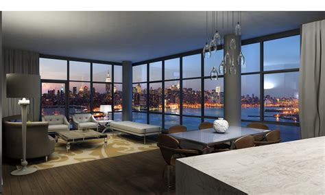 view interior of homes northside piers quot tops off quot tower two its luxury condominium residence on the williamsburg