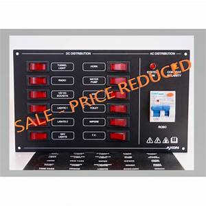 Marine 12 Way Dc Circuit Breaker Switch Panel With Ac Rcbo