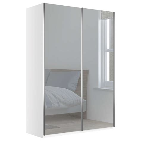 John Lewis Elstra 150cm Wardrobe With Mirrored Sliding