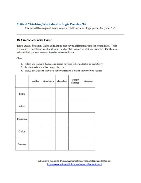 critical thinking worksheet logic puzzles 34 pdf logic puzzles 34 pdf comprehension