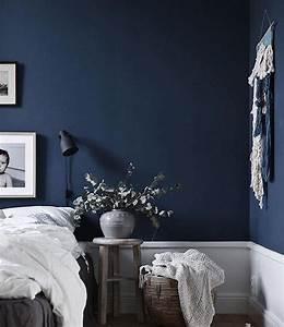 Deep Blue Bedroom Wall Jasminabylund BEDROOM