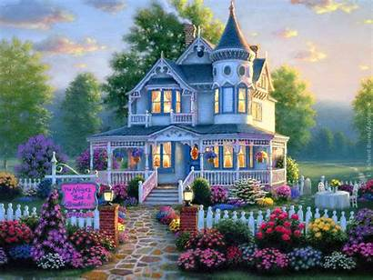 Houses Victorian Homes Cottage Wallpapers Nature Building