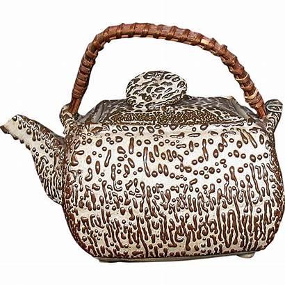 Japanese Pottery Teapot Studio Square Mingei Antique