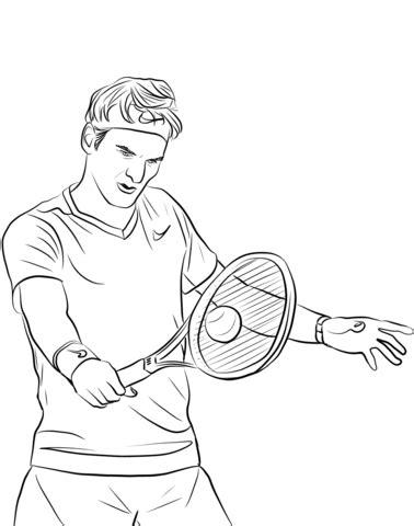 roger federer coloring page  printable coloring pages