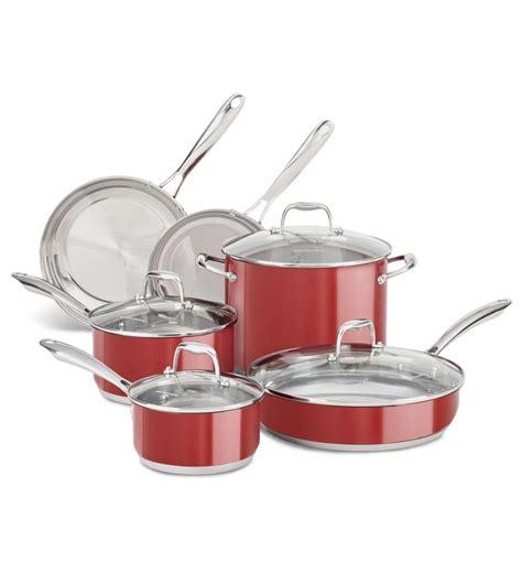 cuisine kitchenaid batterie de cuisine kitchenaid de 10 pièces en acier