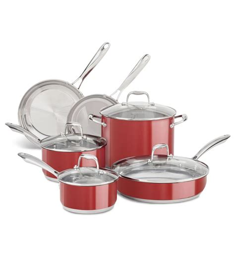 kitchenaid stainless steel  piece set kcss ebay