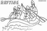 Raft Coloring Pages Rafting Drawing Colorings Print Getdrawings sketch template