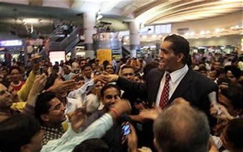 wwe khali india visit  news