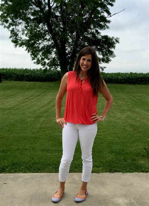 What I Wore Real Mom Style Orange White Outfit