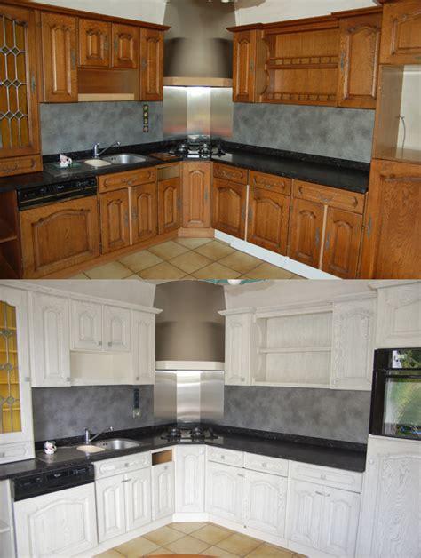 repeindre sa cuisine en noir relooking cuisine bois massif chene vannes rennes lorient 18 relooking cuisine meuble