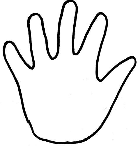 handprint outline clipartioncom