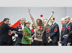 FemenAttacke auf Angela Merkel und Wladimir Putin Warum