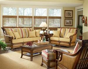 Sunroom furniture decorated sunroom in upscale home new for Cane furniture for living room