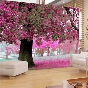 photo wall paper for living room tv setting room sofa warm With what kind of paint to use on kitchen cabinets for cherry blossom tree wall art