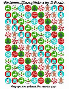 printable christmas stickers happy holidays With christmas labels and seals