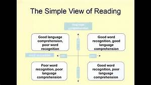 Sir Jim Rose Dyslexia And The Simple View Of Reading