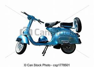 Stock Photography of Vintage vespa scooter (path included ...