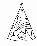 Teepee Coloring Simple Pages Tent Drawing Sheets Objects Printable Chavez Cesar Tipi Clipart Easy Activity Native Print Ten Commandments Template sketch template