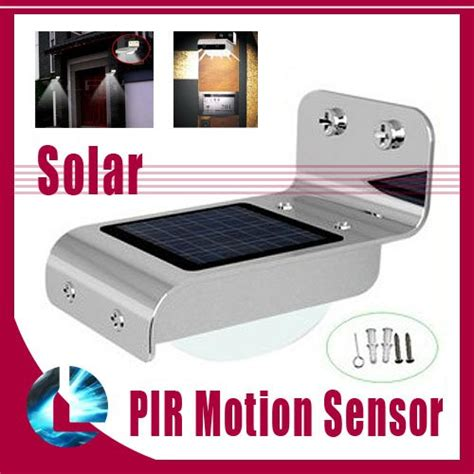 waterproof ip65 solar powered home outdoor 16 led wall
