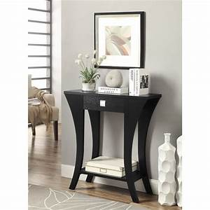 Shop, Black, Finish, Console, Sofa, Entry, Table, With, Drawer, -, Free, Shipping, Today