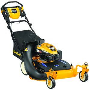 cub cadet 28 in 195cc 3 in 1 rwd self propelled wide cut