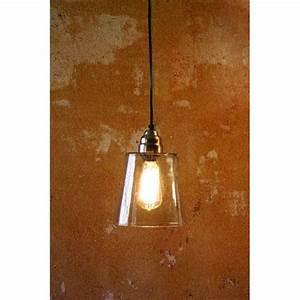 Electric mini pendant lamp w seven inch diameter glass